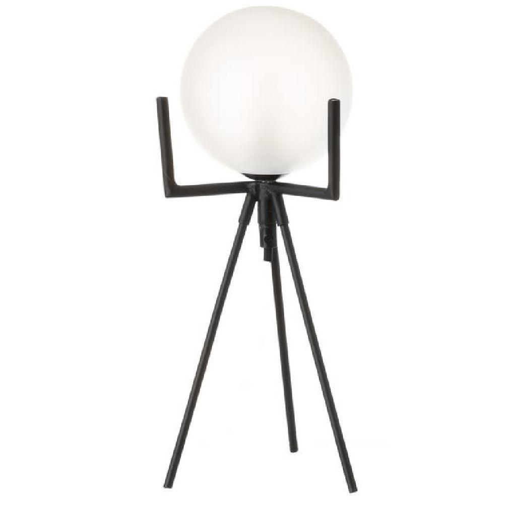 Lampe de table en métal noir H35cm