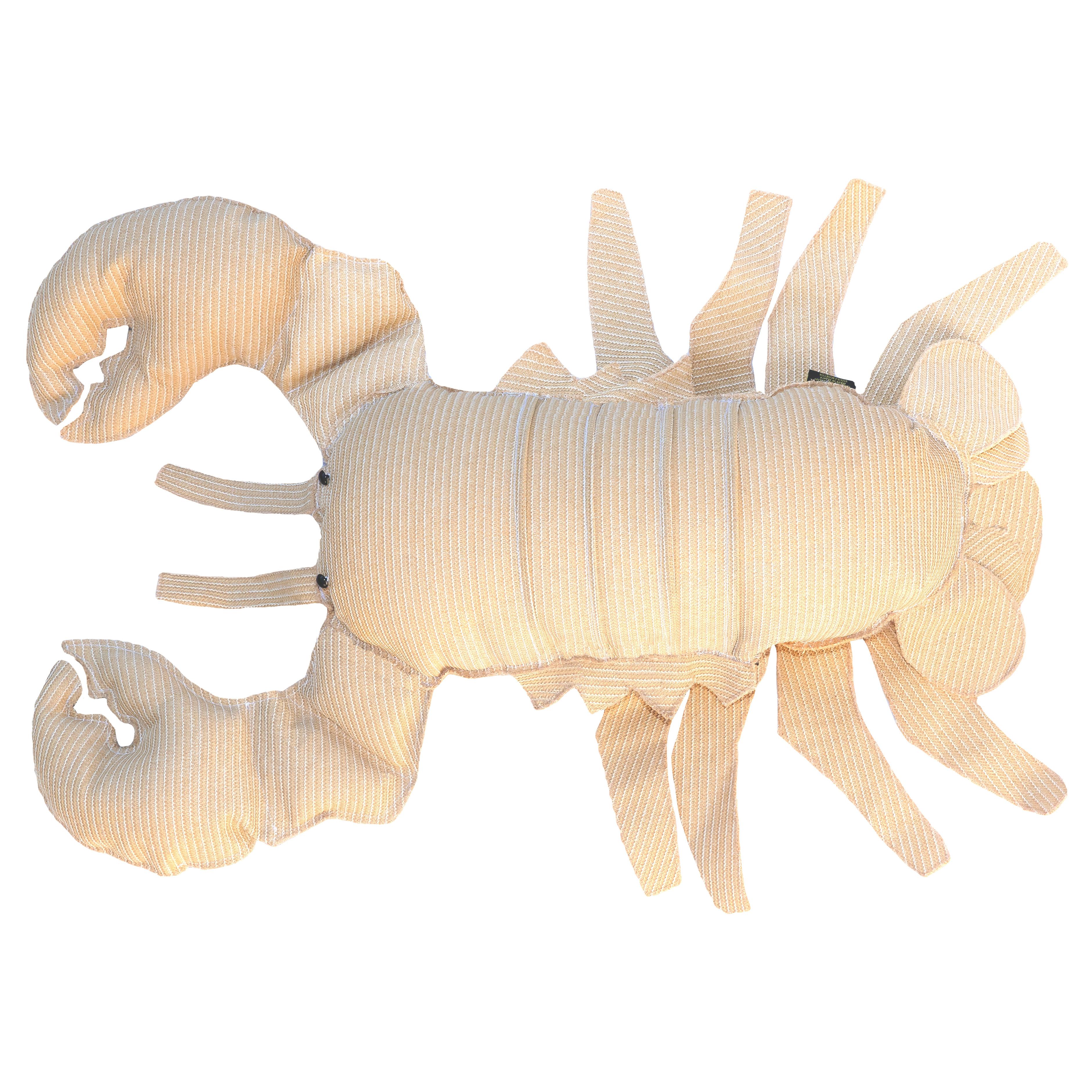 Coussin extérieur homard effet raphia