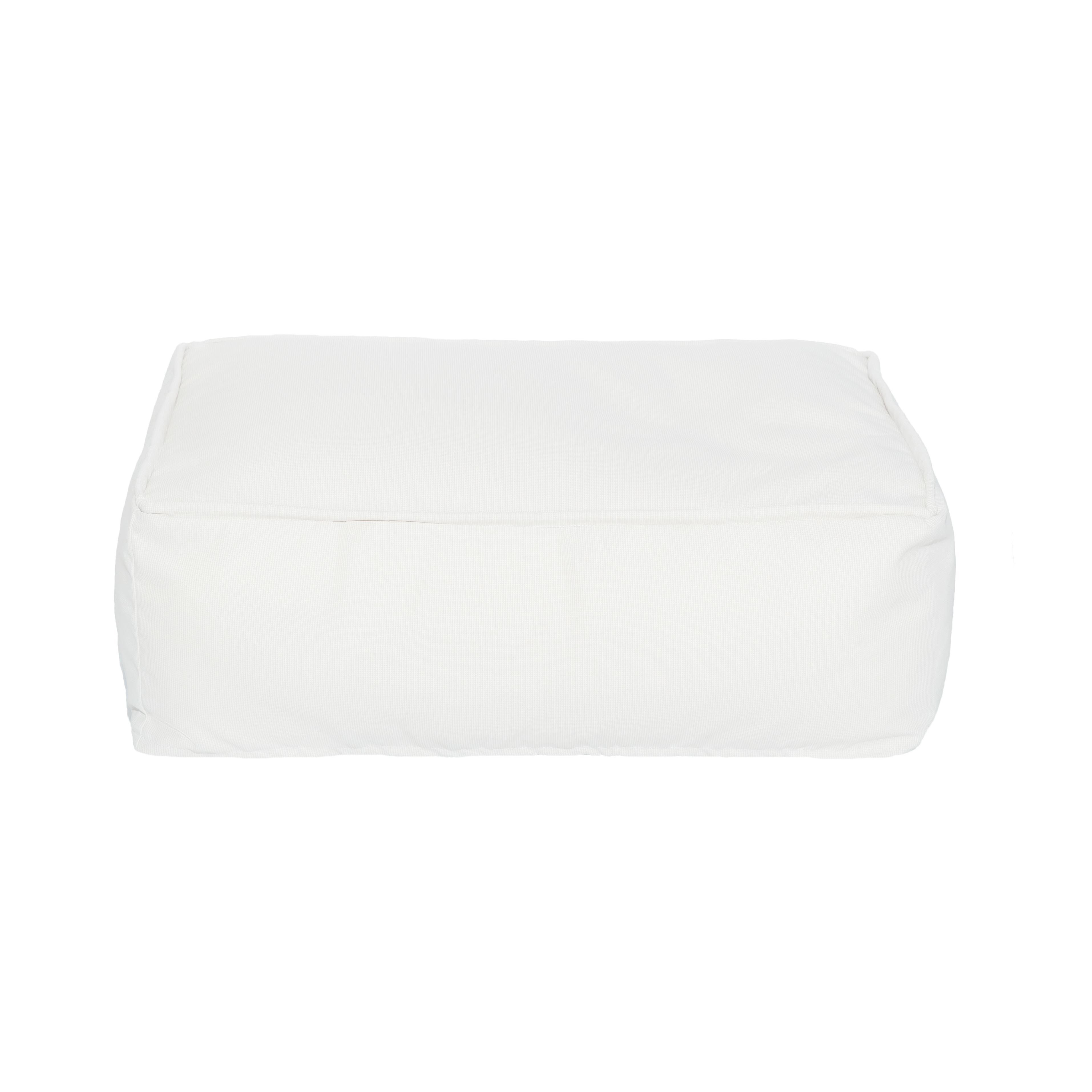 Coussin de sol extérieur blanc S