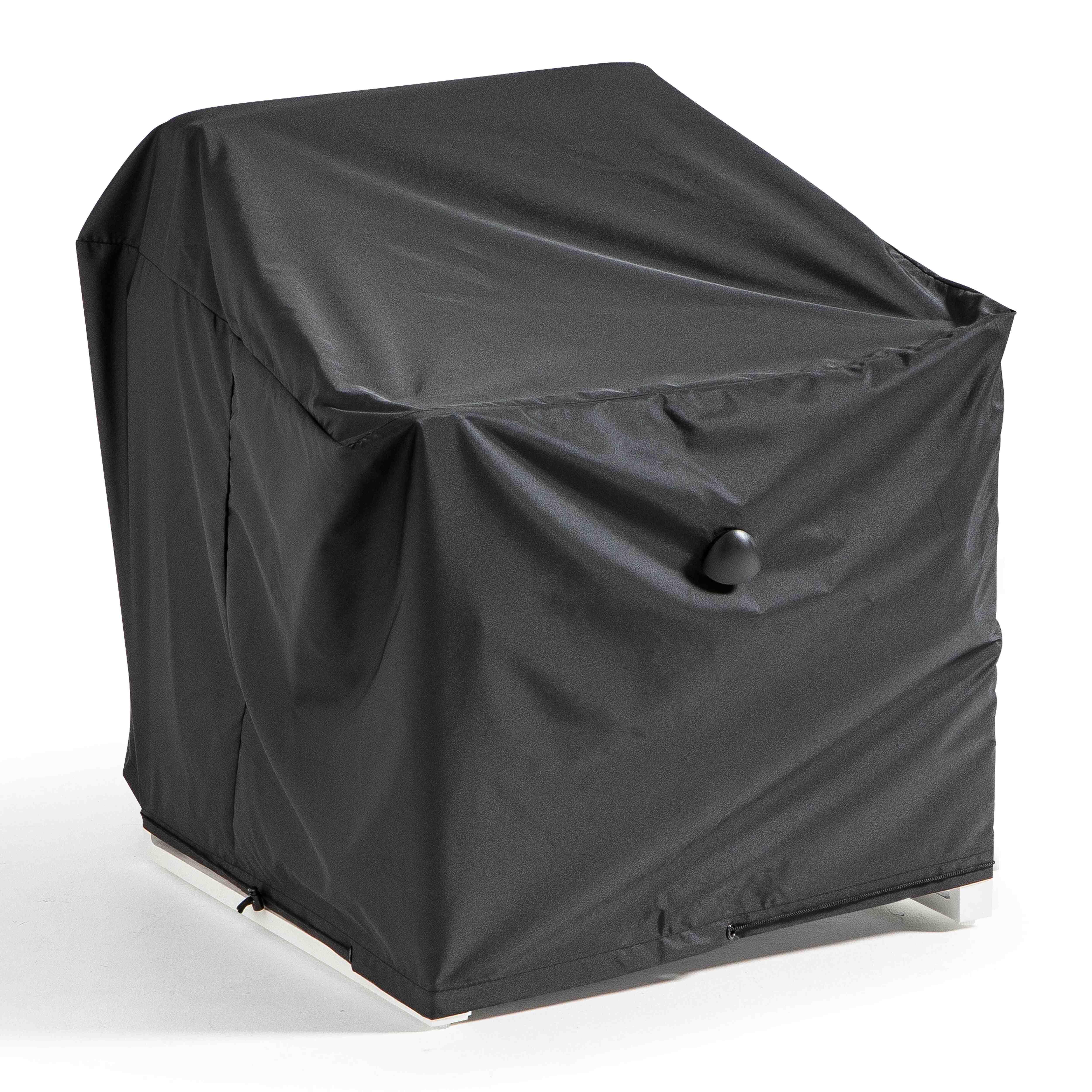 Housse de fauteuil de jardin en polyester noir