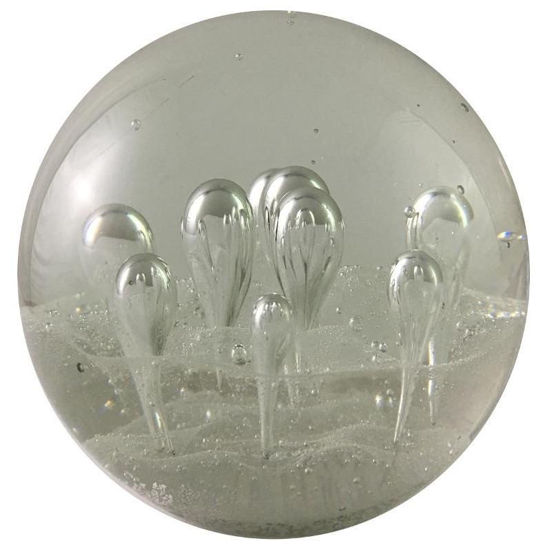 Presse-papier sulfure en verre transparent D10