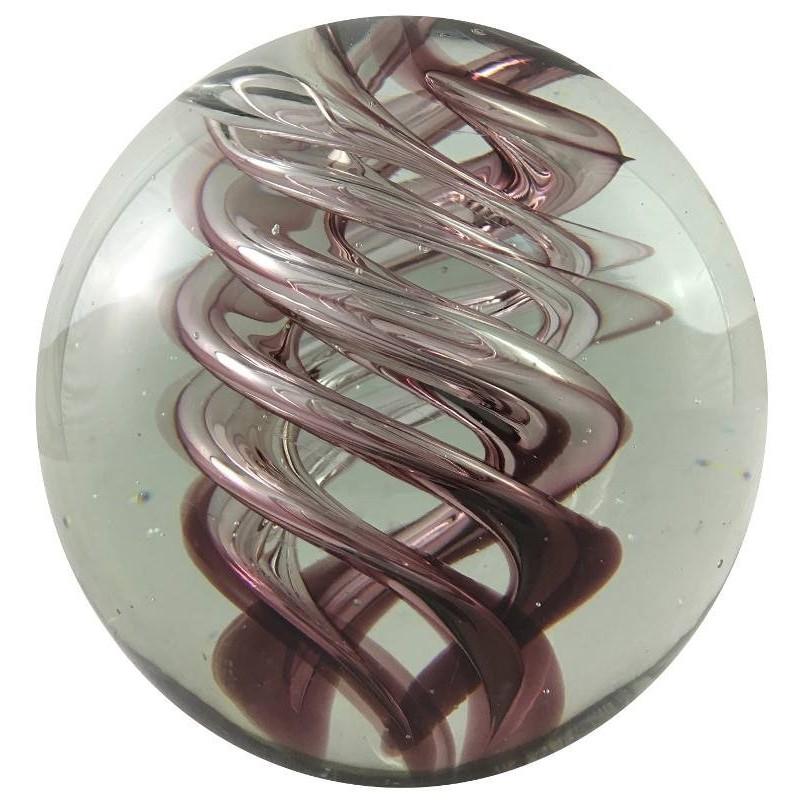 Presse-papier boule en verre pourpre D10