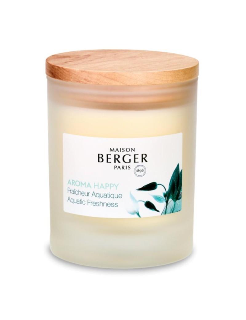 Bougie parfumée aroma happy fraîcheur aquatique