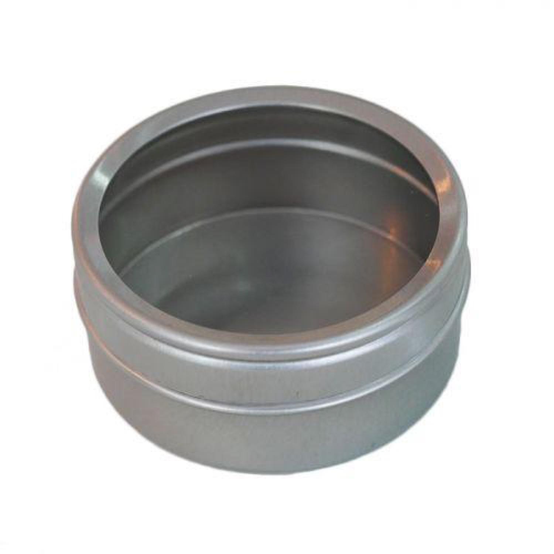 Boîte métallique à couvercle transparent 5,3x2,5cm