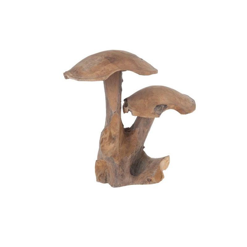 Champignon en teck - H39 cm
