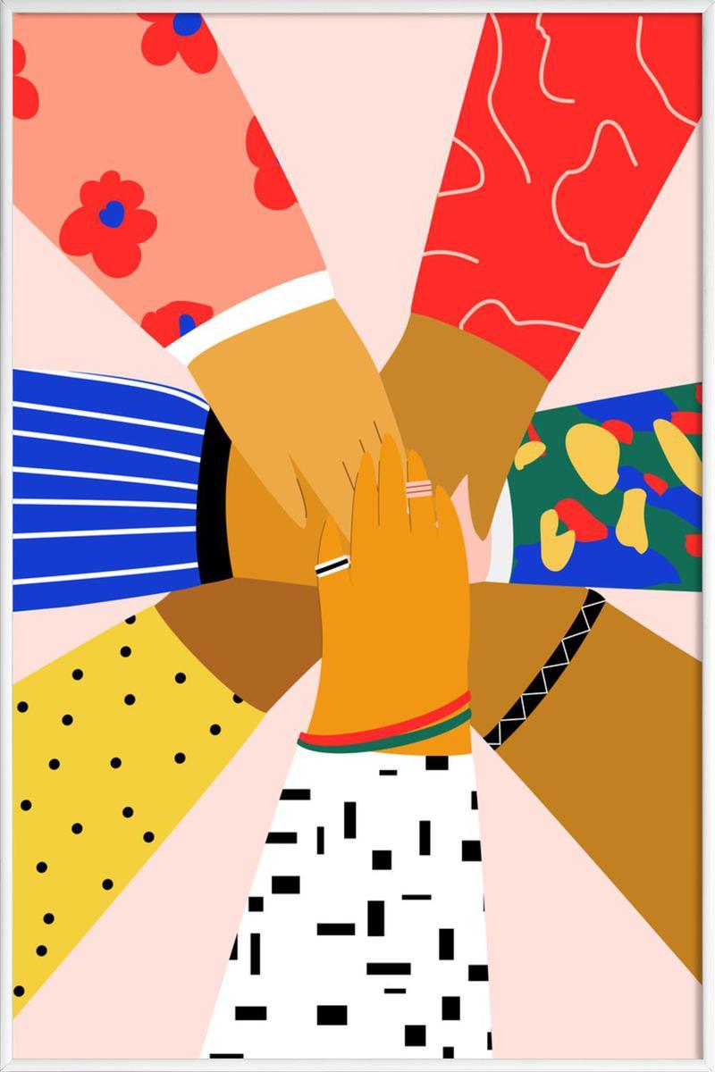 Affiche avec cadre standard (Blanc) en Multicolore/20x30