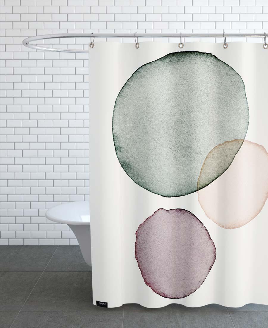 Rideau de douche en polyester en Noir & Vert/150x200