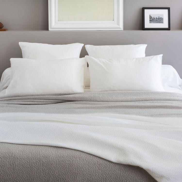 Dessus de lit en 100% coton gris 230x250