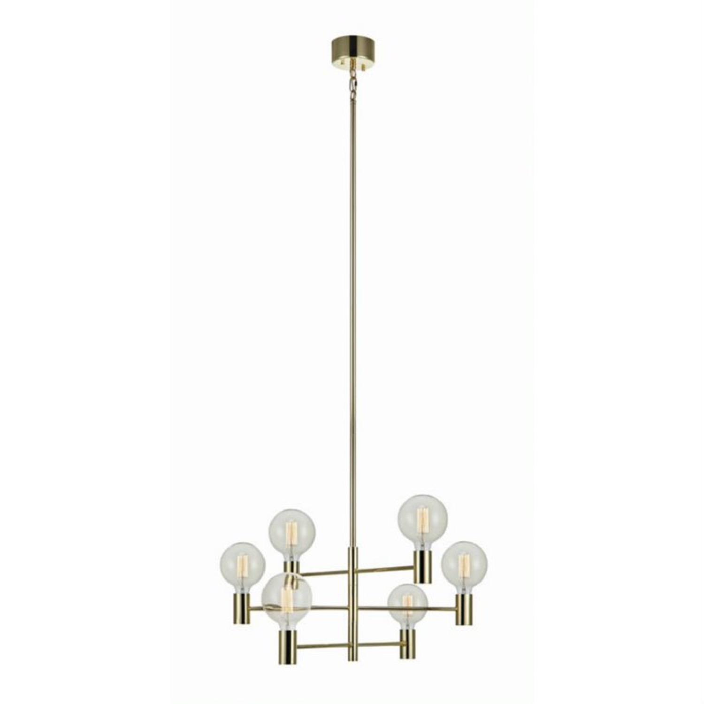 Suspension 6 lumières avec 3 bras orientables métal D62cm