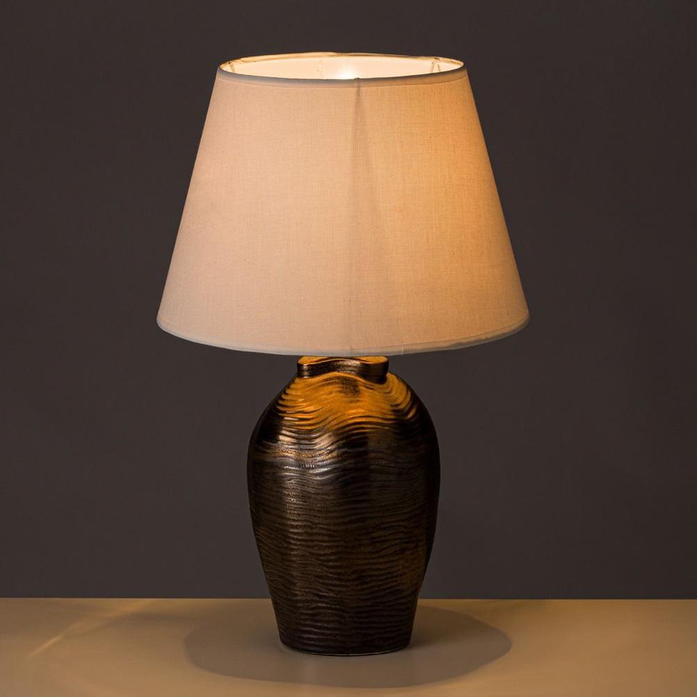 Lampe en céramique couleur cuivre H48cm