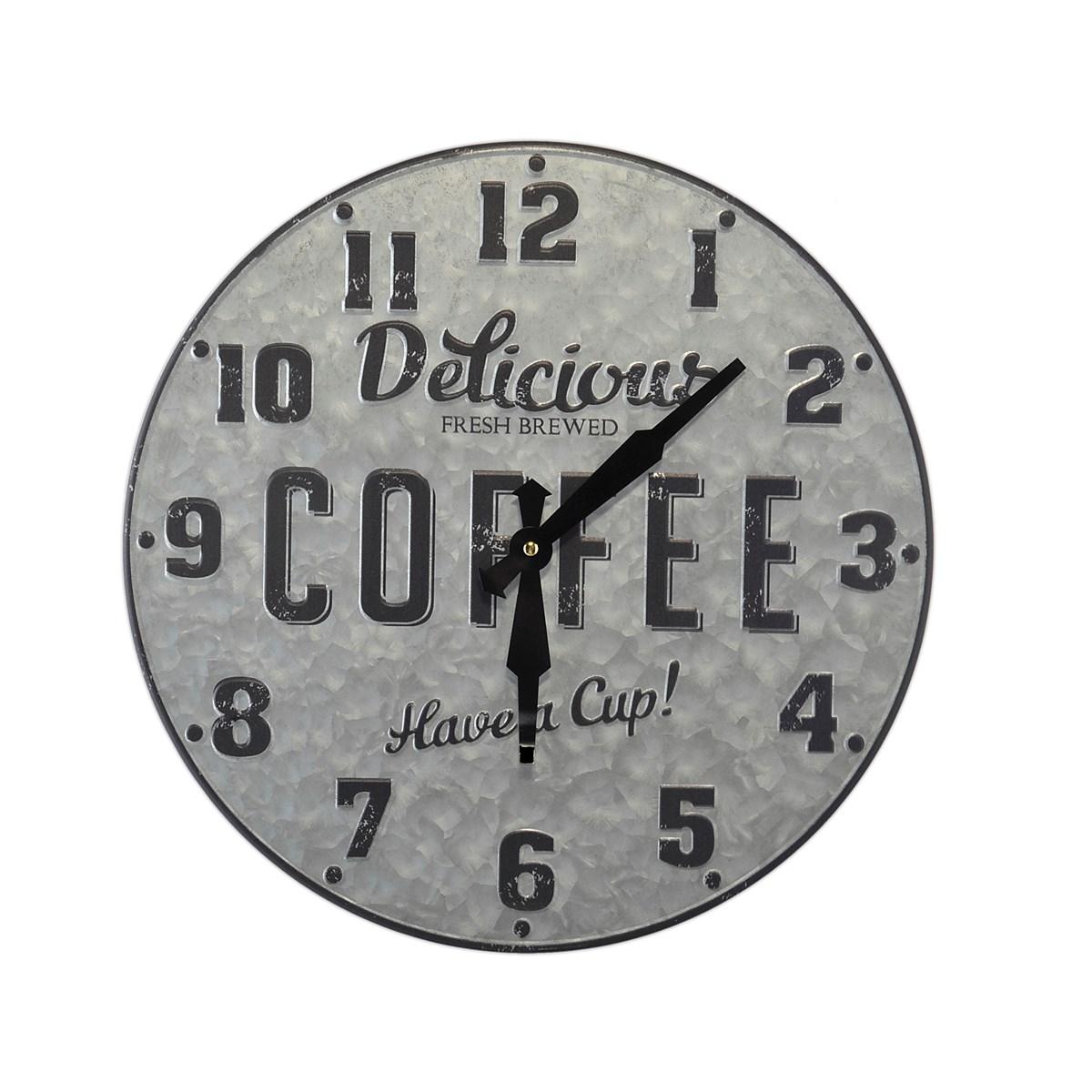 Horloge murale métal et zinc D40