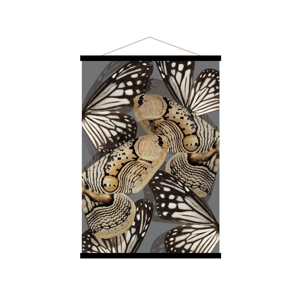 Affiche kakemono en toile noire 50x70