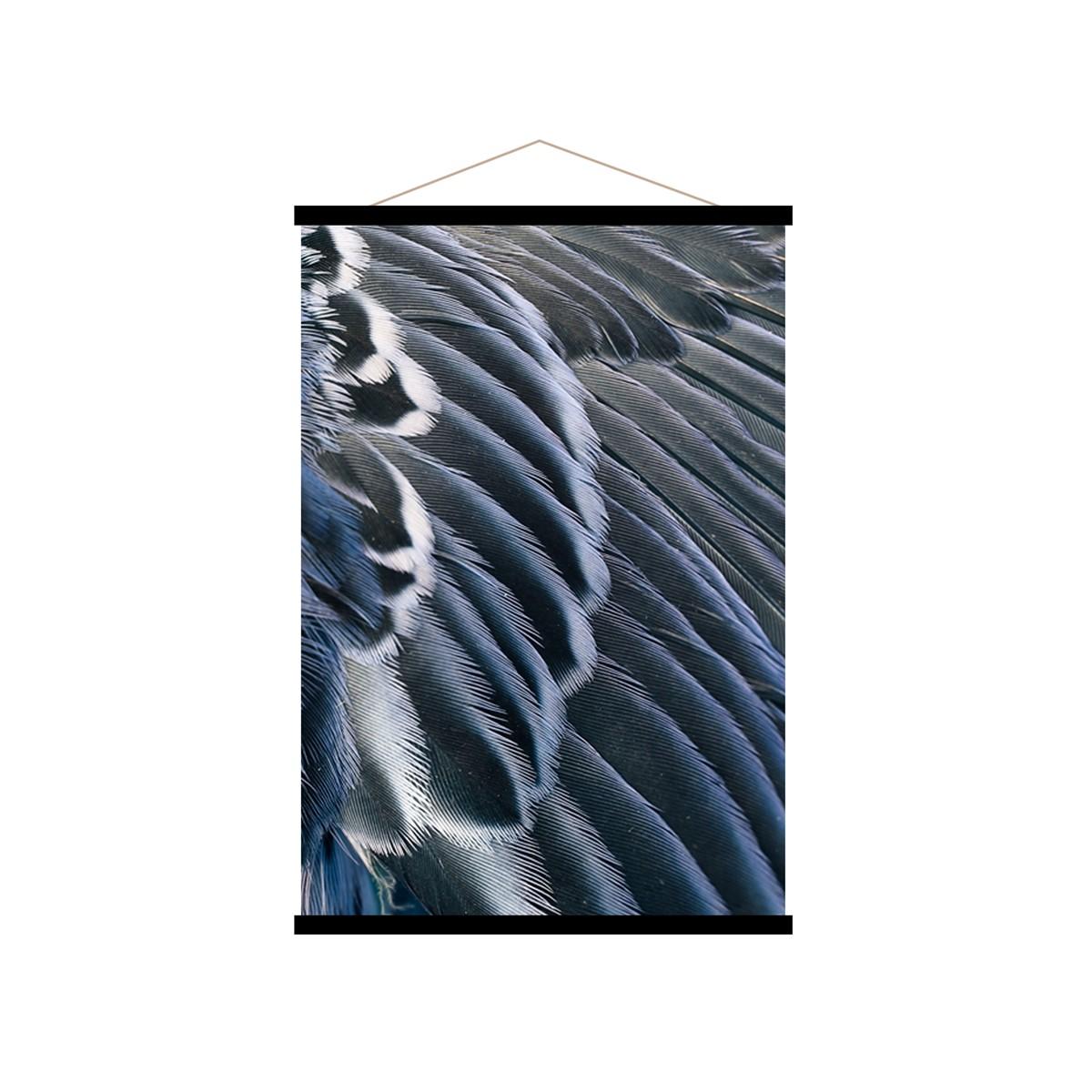 Affiche kakemono en toile bleu nuit 70x100