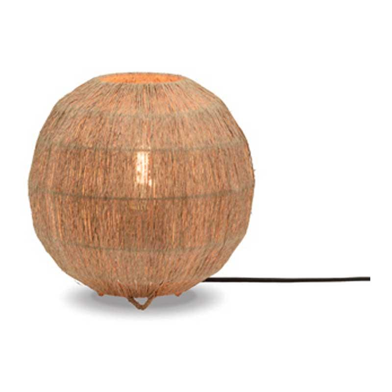 Lampe de table bambou jute D25cm