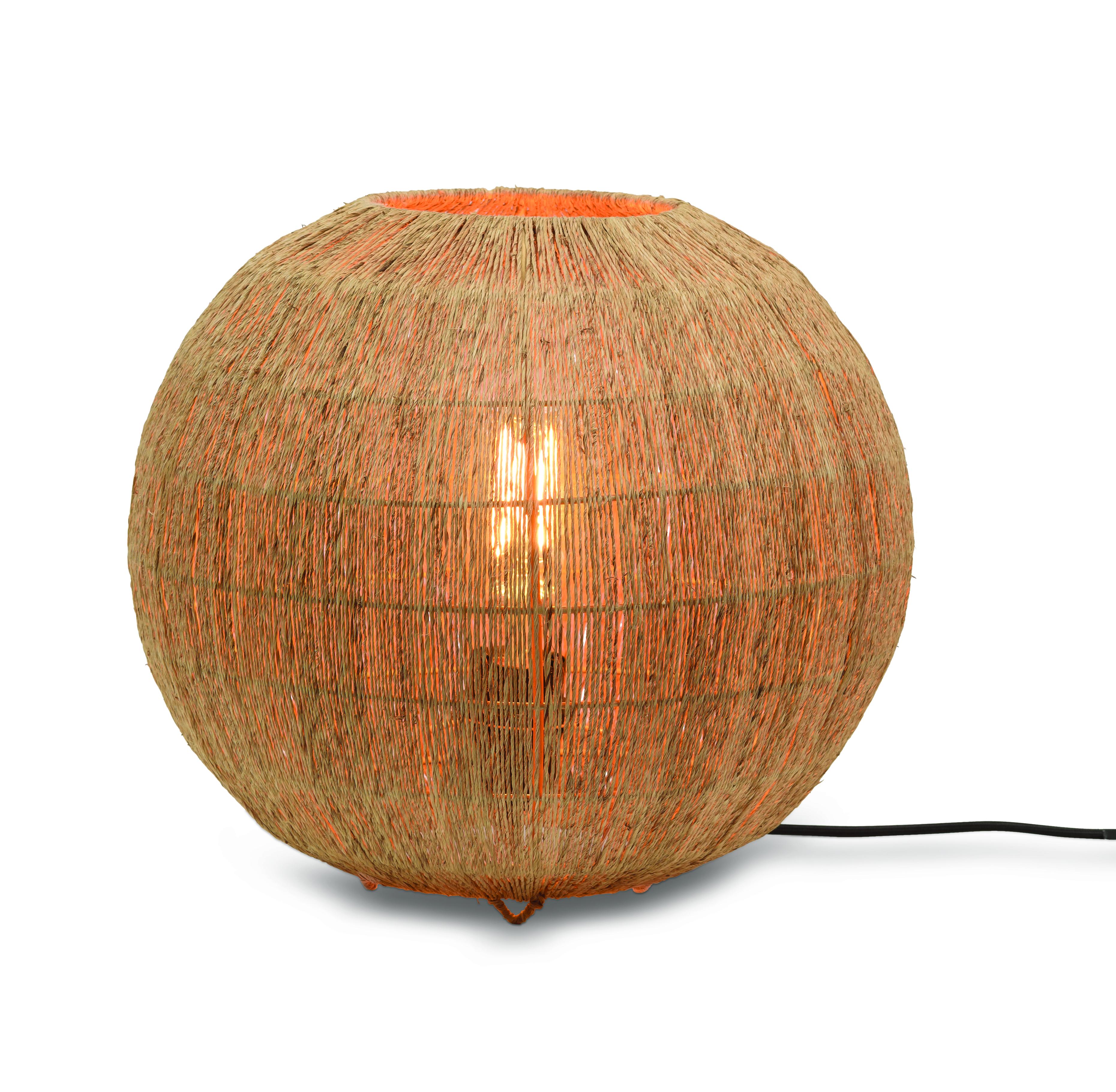 Lampe de table bambou jute D32cm
