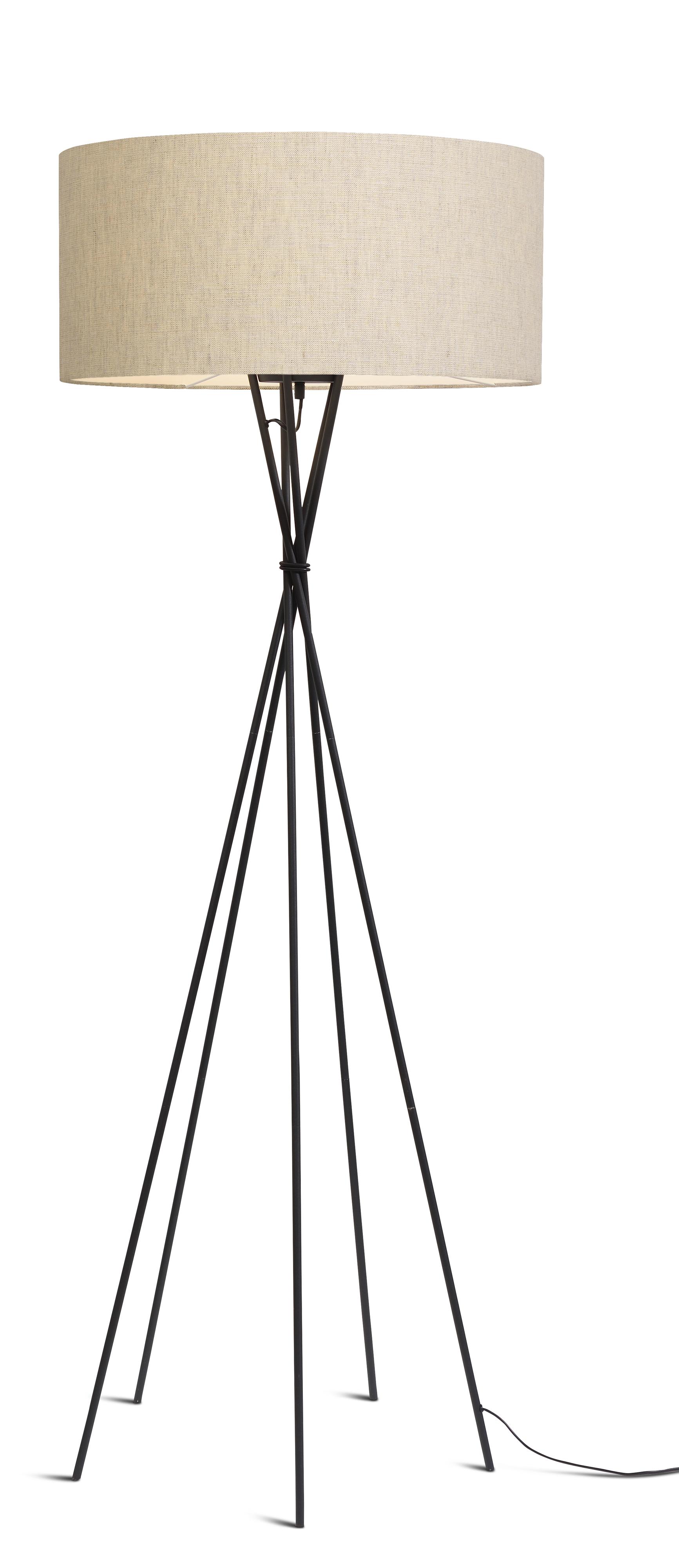 maison du monde Lampadaire avec pieds noirs et abat-jour H175cm