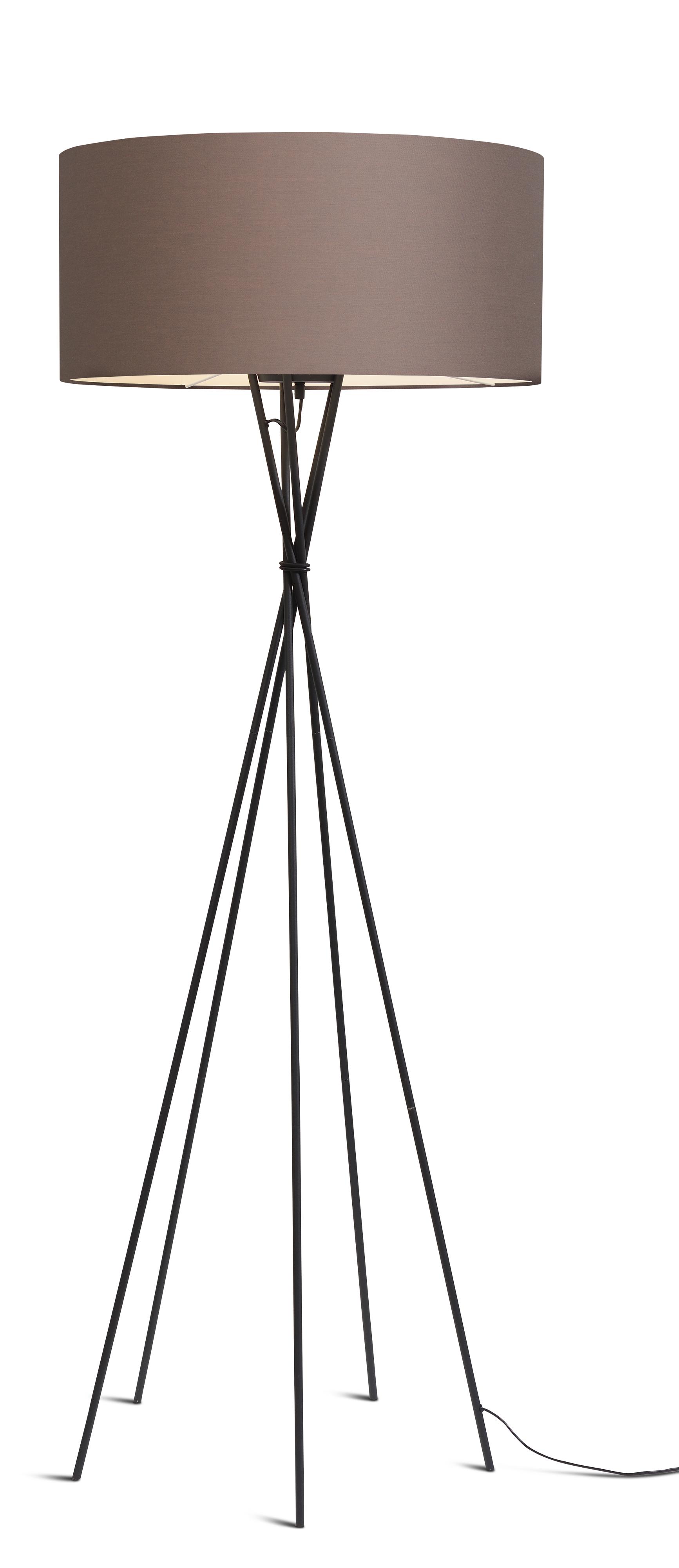 maison du monde Lampadaire avec pieds noirs et abat-jour gris fumé H175cm