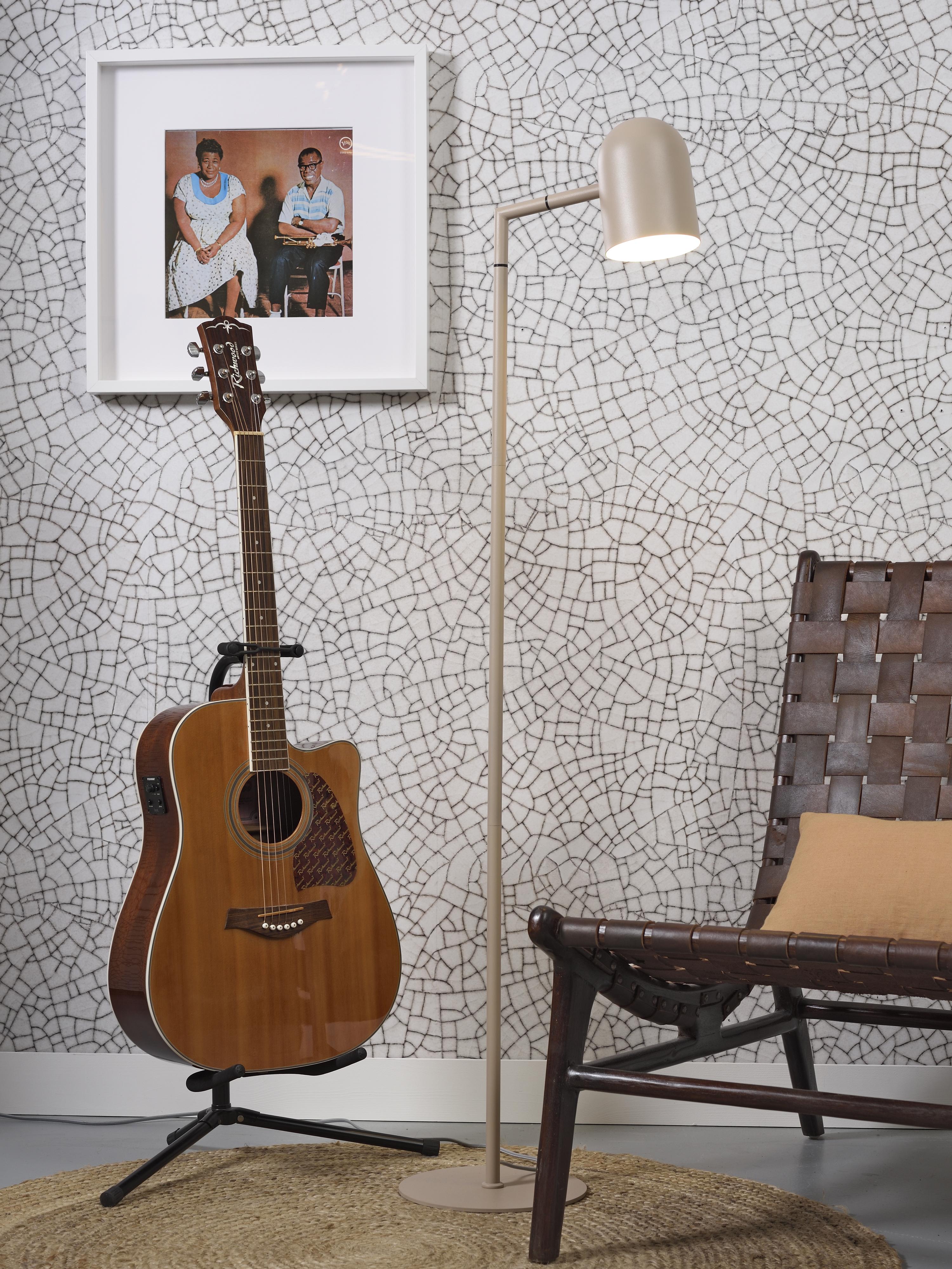 Lampadaire en métal beige H141cm