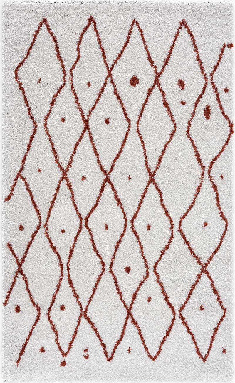 Tapis shaggy Salon en laine artificielle terracotta 200x290