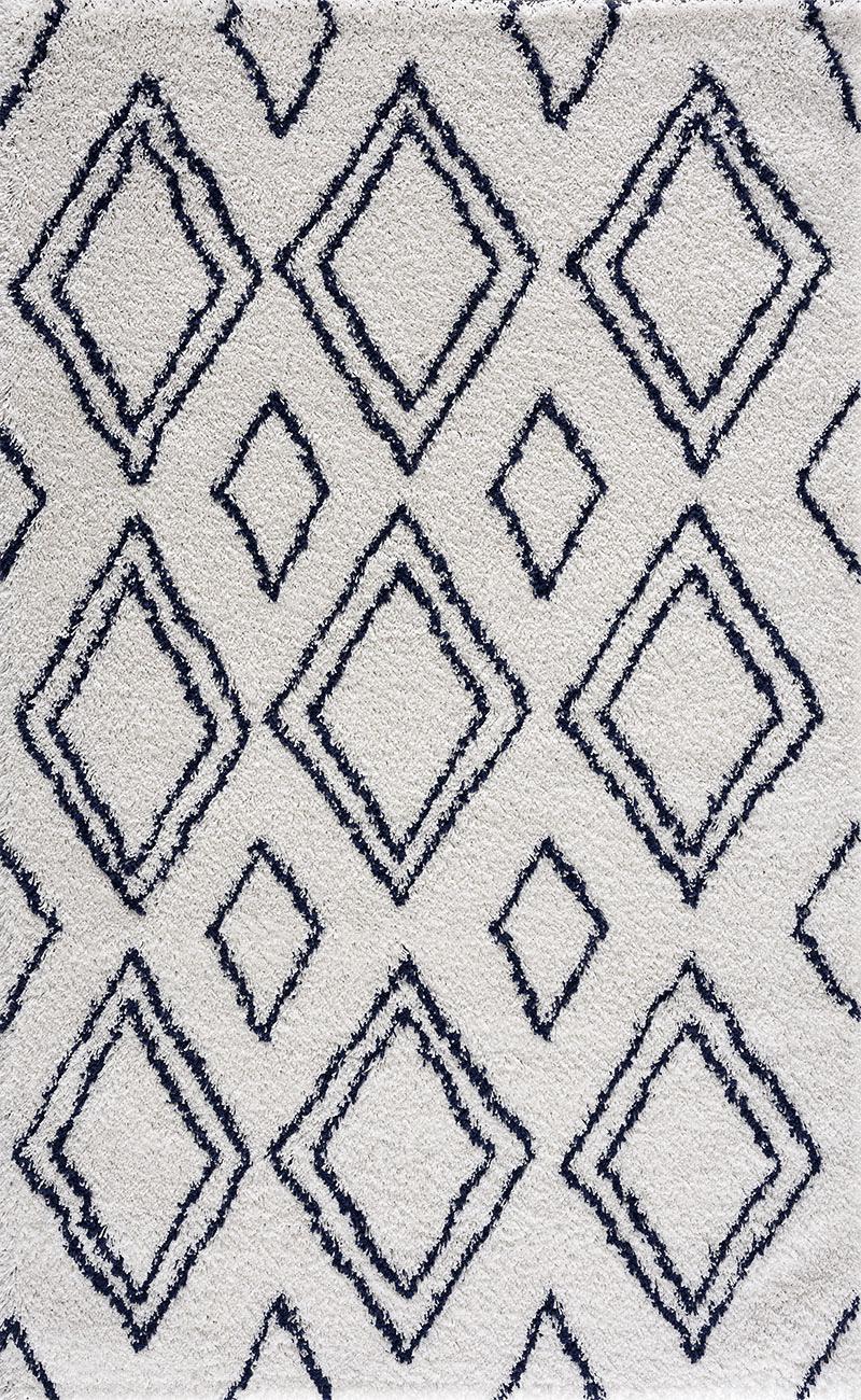Tapis shaggy salon en laine artificielle bleu roi 120X160