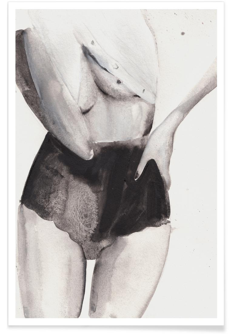 Affiche en Blanc & Gris/40x60