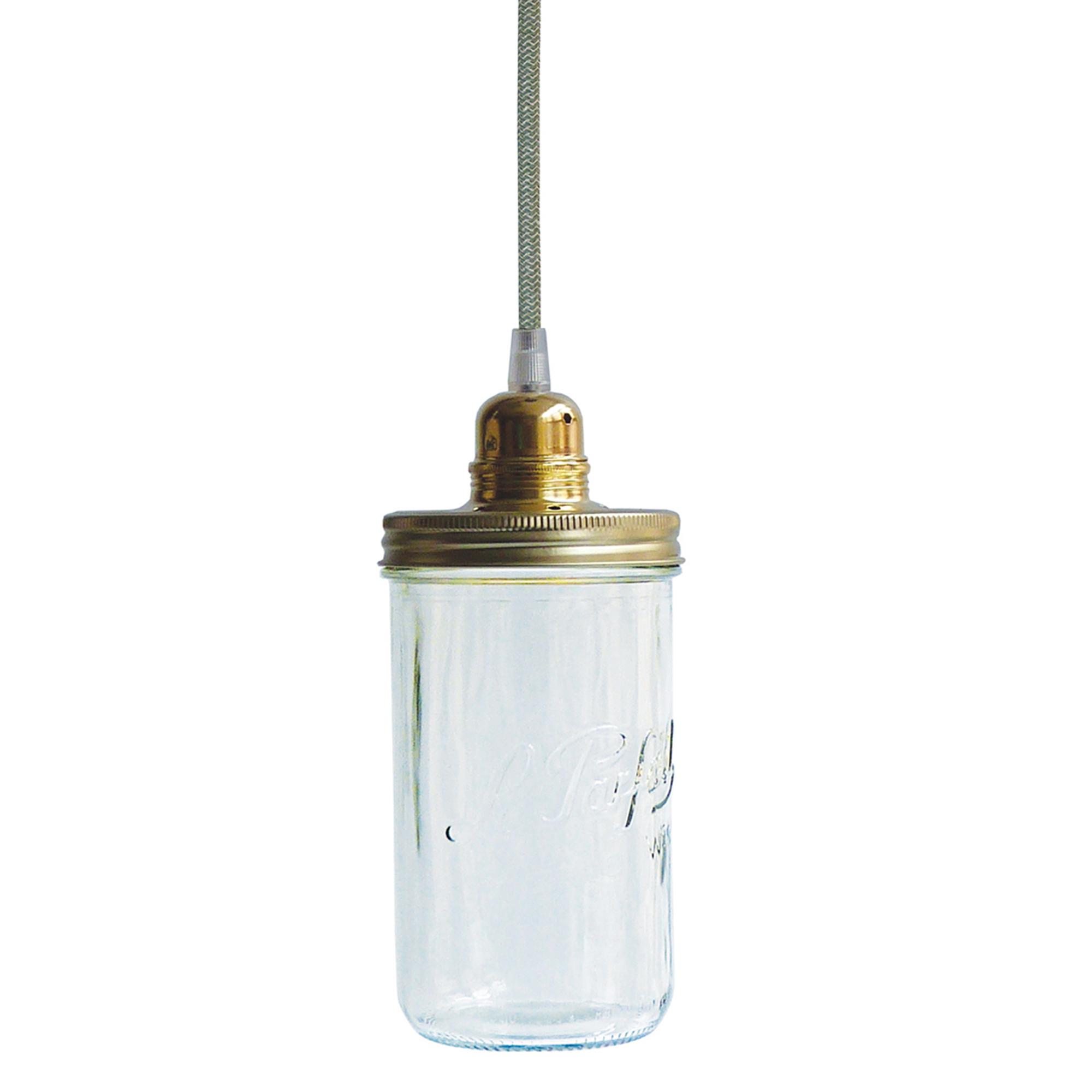 Dékolustre - Lustre bocal 1 tête fil vert
