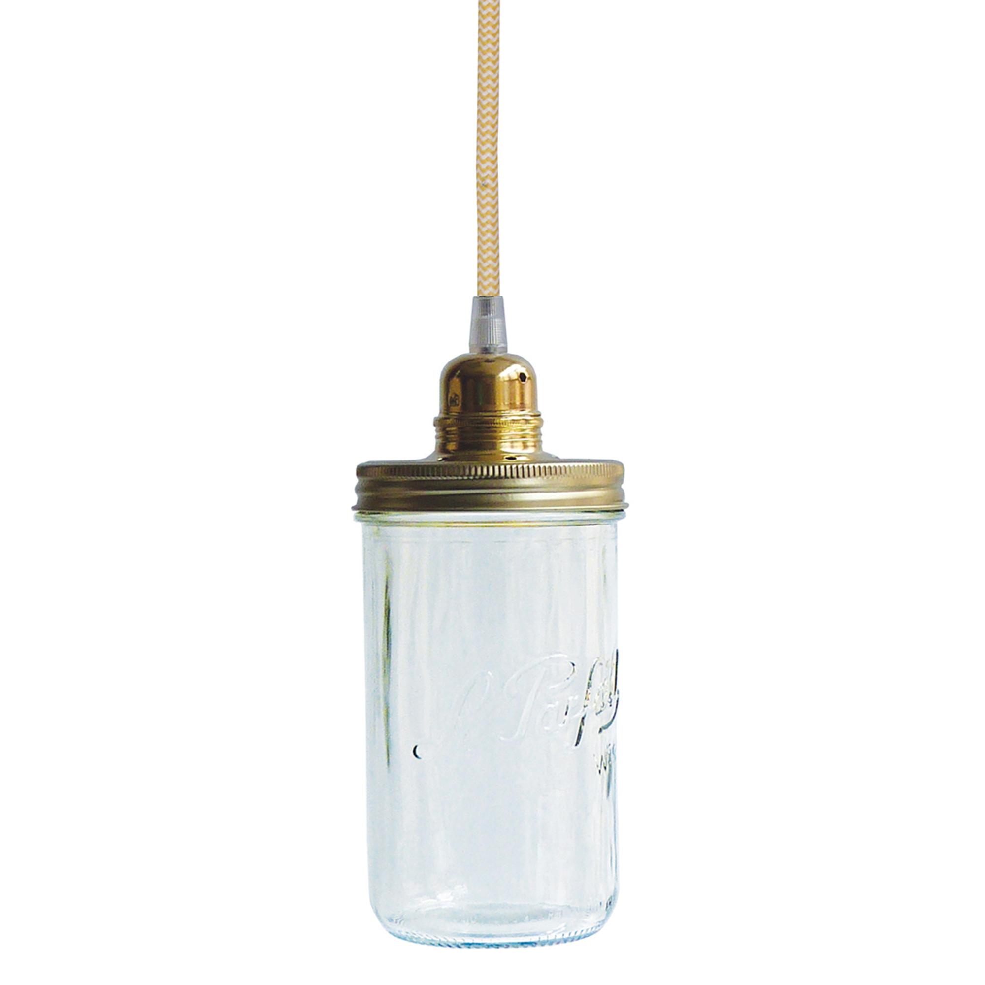Dékolustre - Lustre bocal 1 tête fil jaune