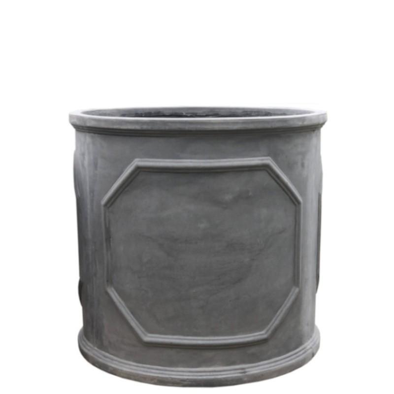 Bac jardinière gris en fonte et fibres de ciment D38