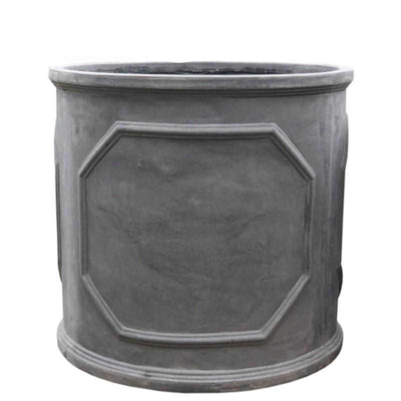 Bac jardinière gris en fonte et fibres de ciment D64