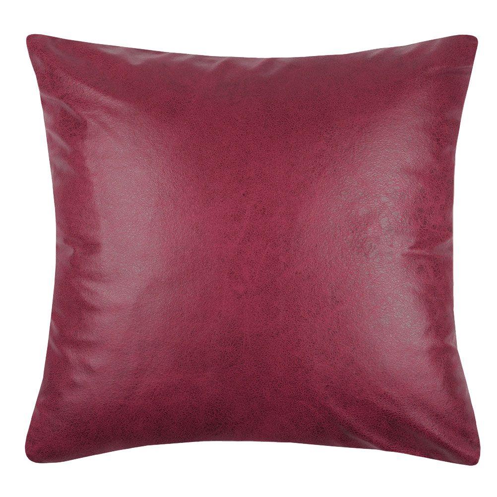 Coussin carré déhoussable aspect cuir 40x40