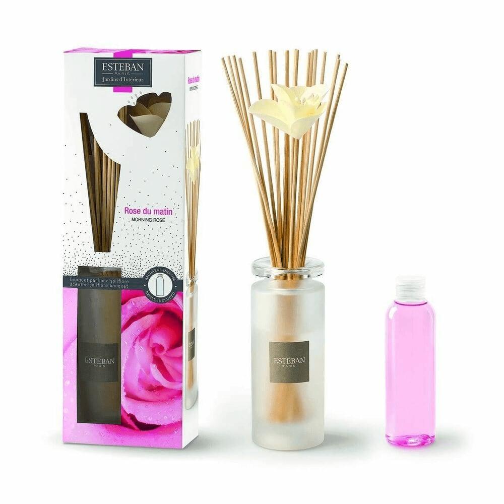 Bouquet parfumé soliflore rose du matin
