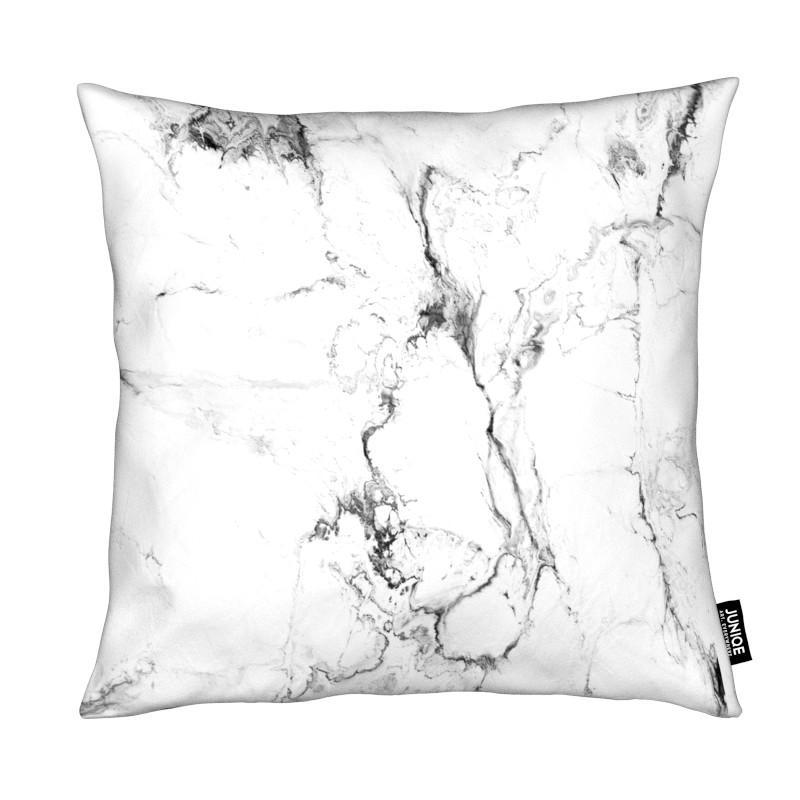 Coussin en microfibre en Blanc/40x40