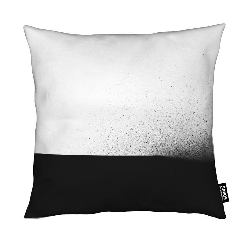 Coussin en microfibre en Blanc & Gris/40x40
