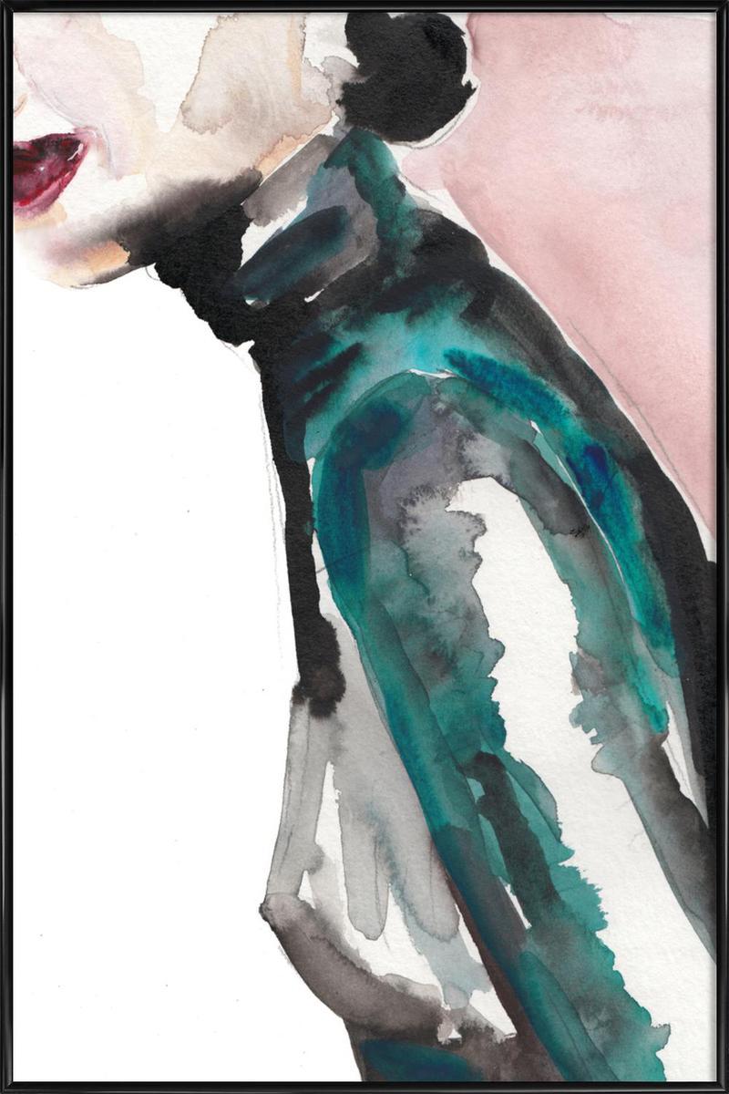 Affiche avec cadre standard (Noir) en Noir & Rose/30x45