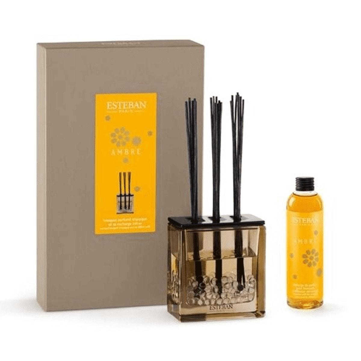 Bouquet parfumé tryptique ambre