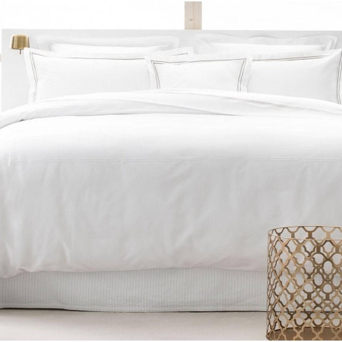 Drap plat luxe en Satin de coton Beige 240x310 cm