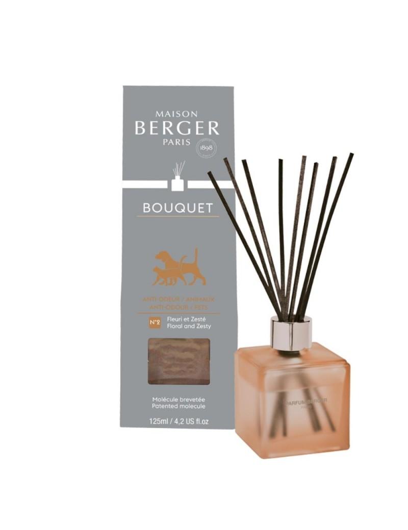 Bouquet parfumé cube odeurs d'animaux givré