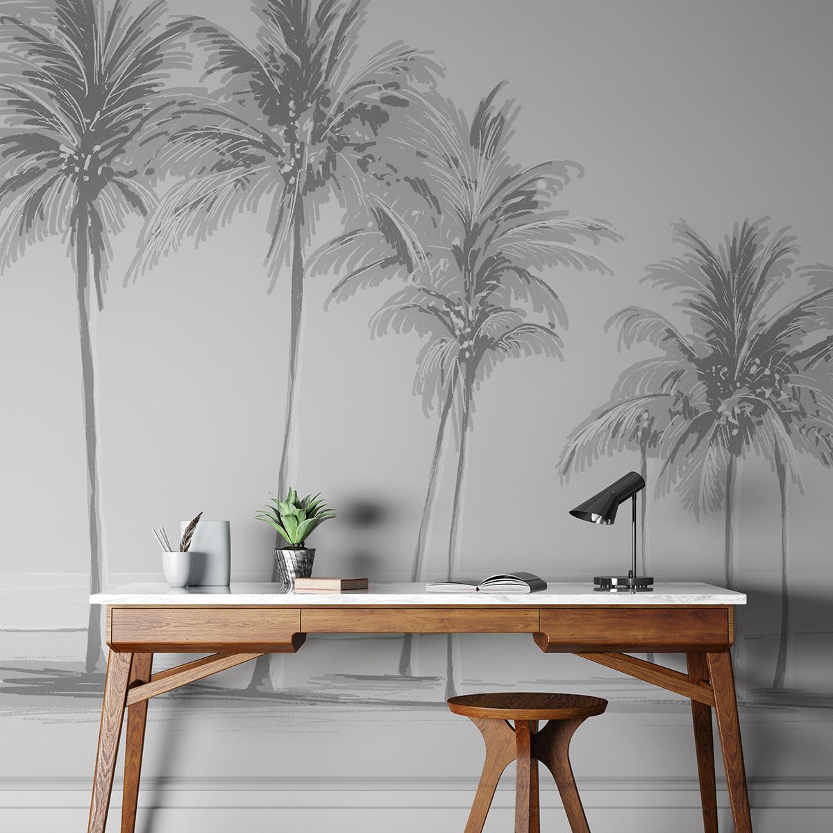 Papier peint panoramique palmiers 170x250