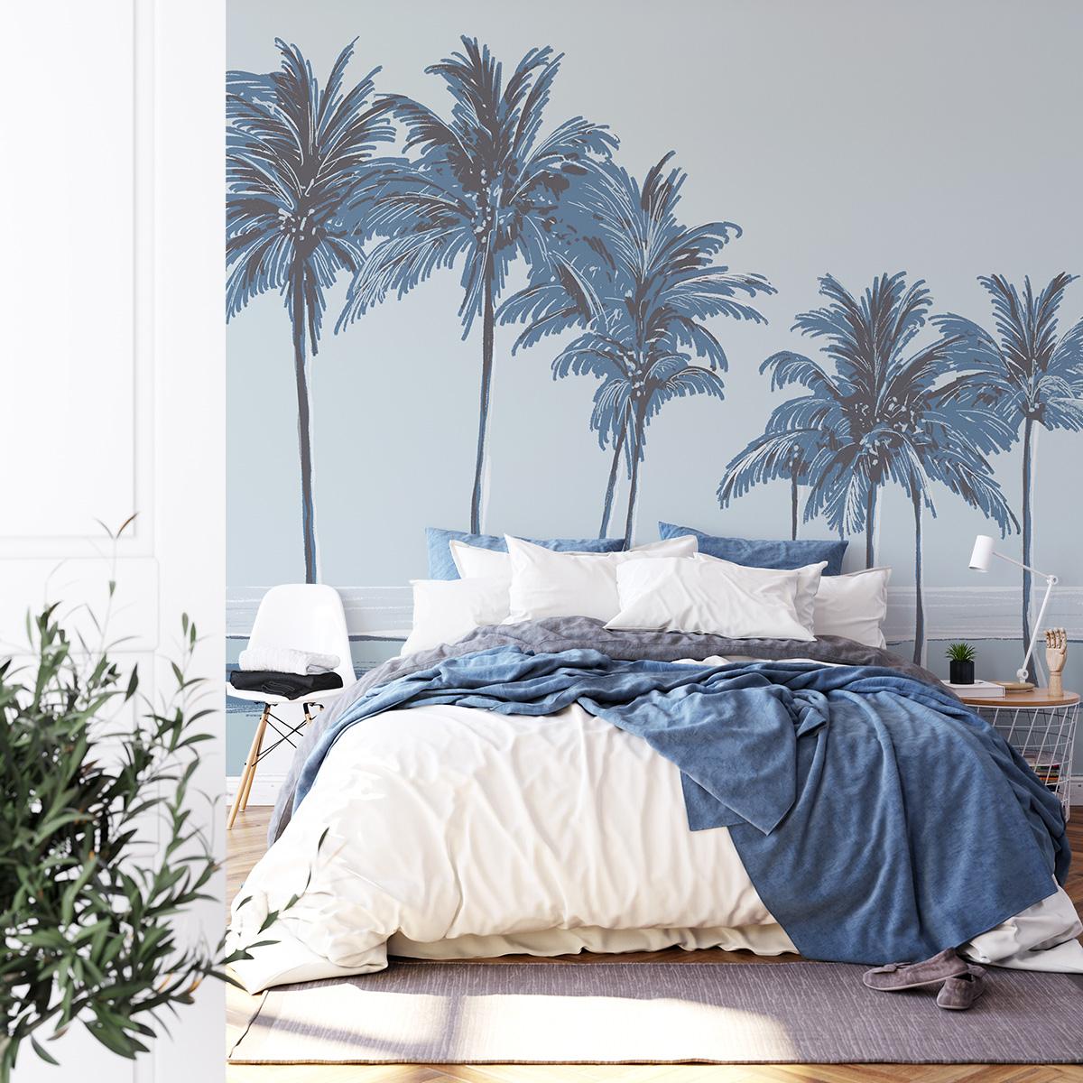 Papier peint panoramique palmiers 425x250