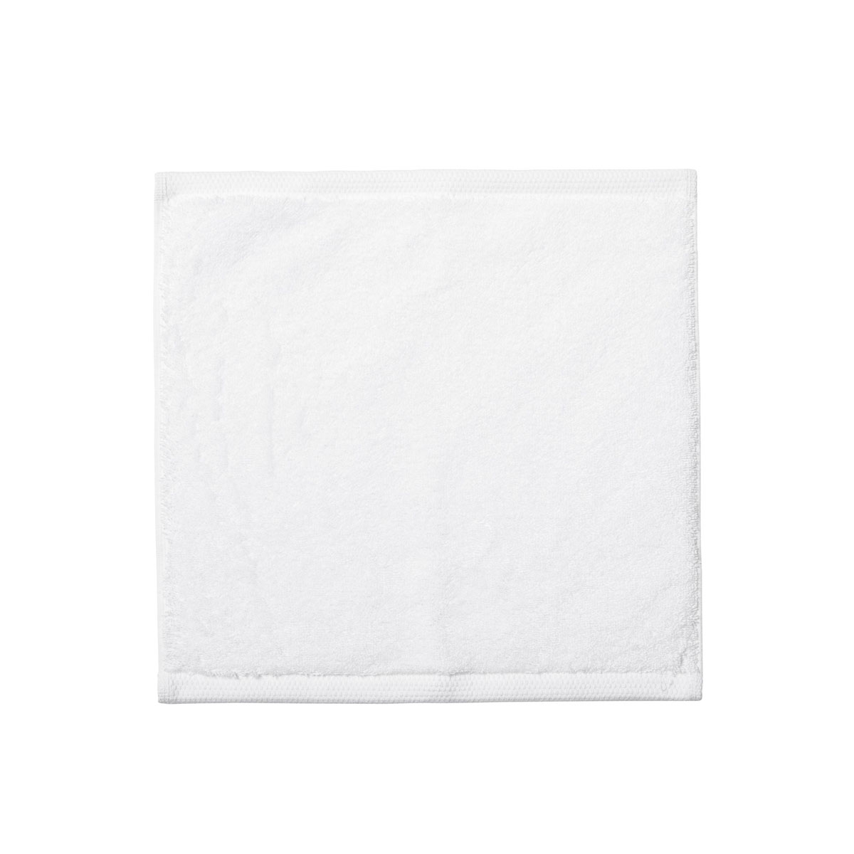 Carré visage en coton blanc 30x30