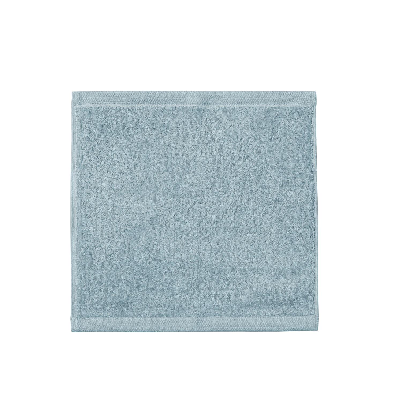 Carré visage en coton bleu islande 30x30