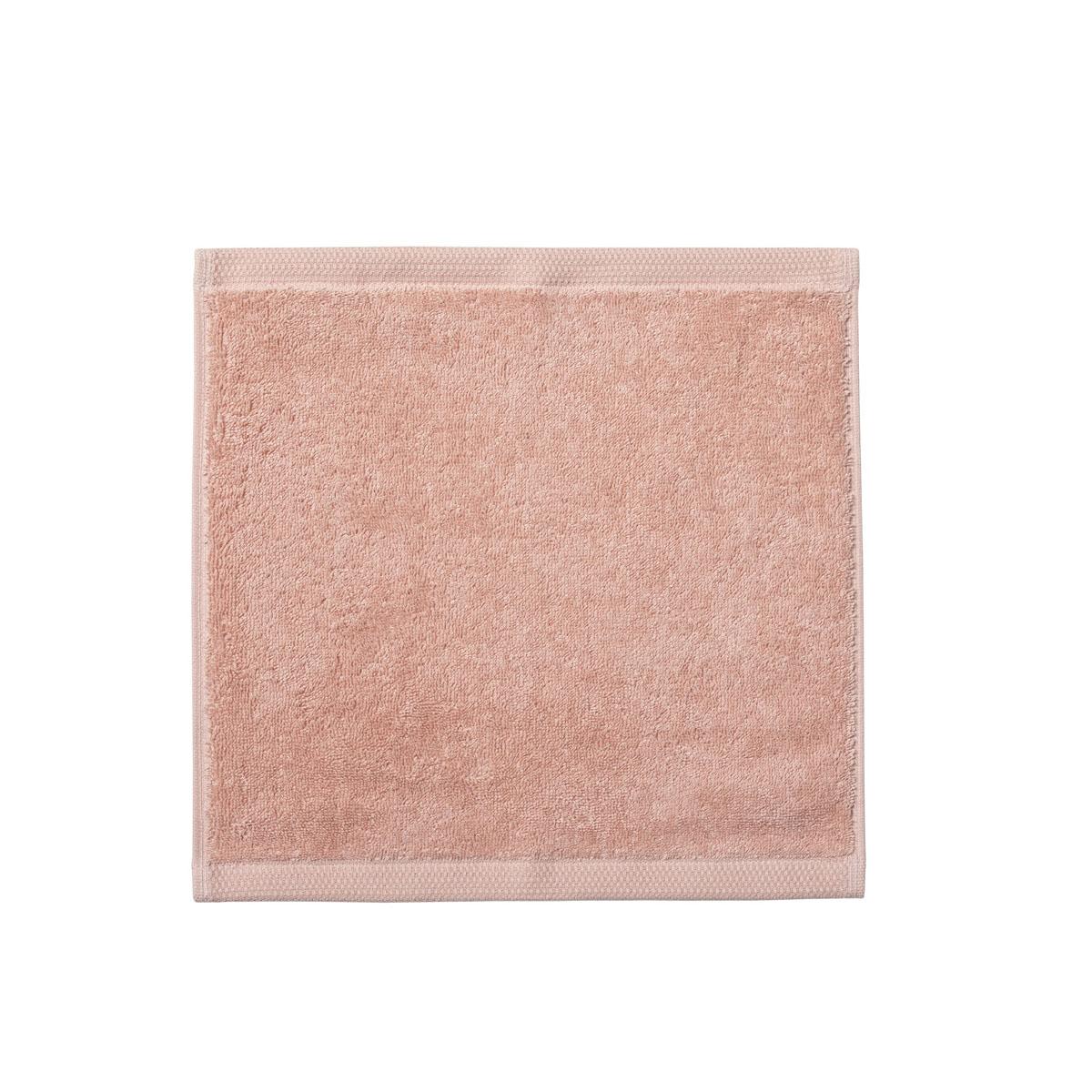 Carré visage en coton rose aurore 30x30