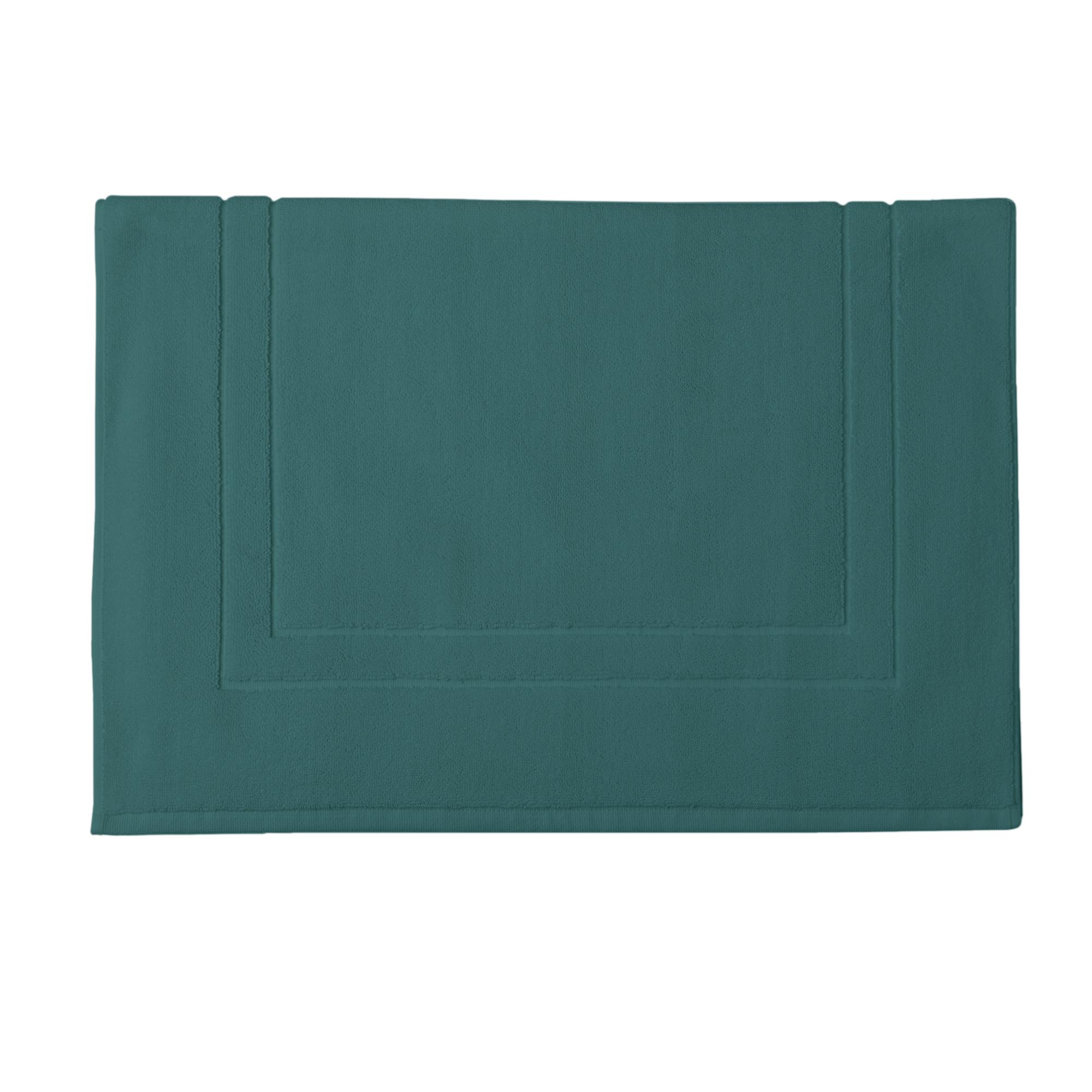 Tapis de bain en coton vert maquis 60x90