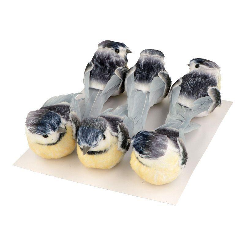 Set 6 mésanges sur pince