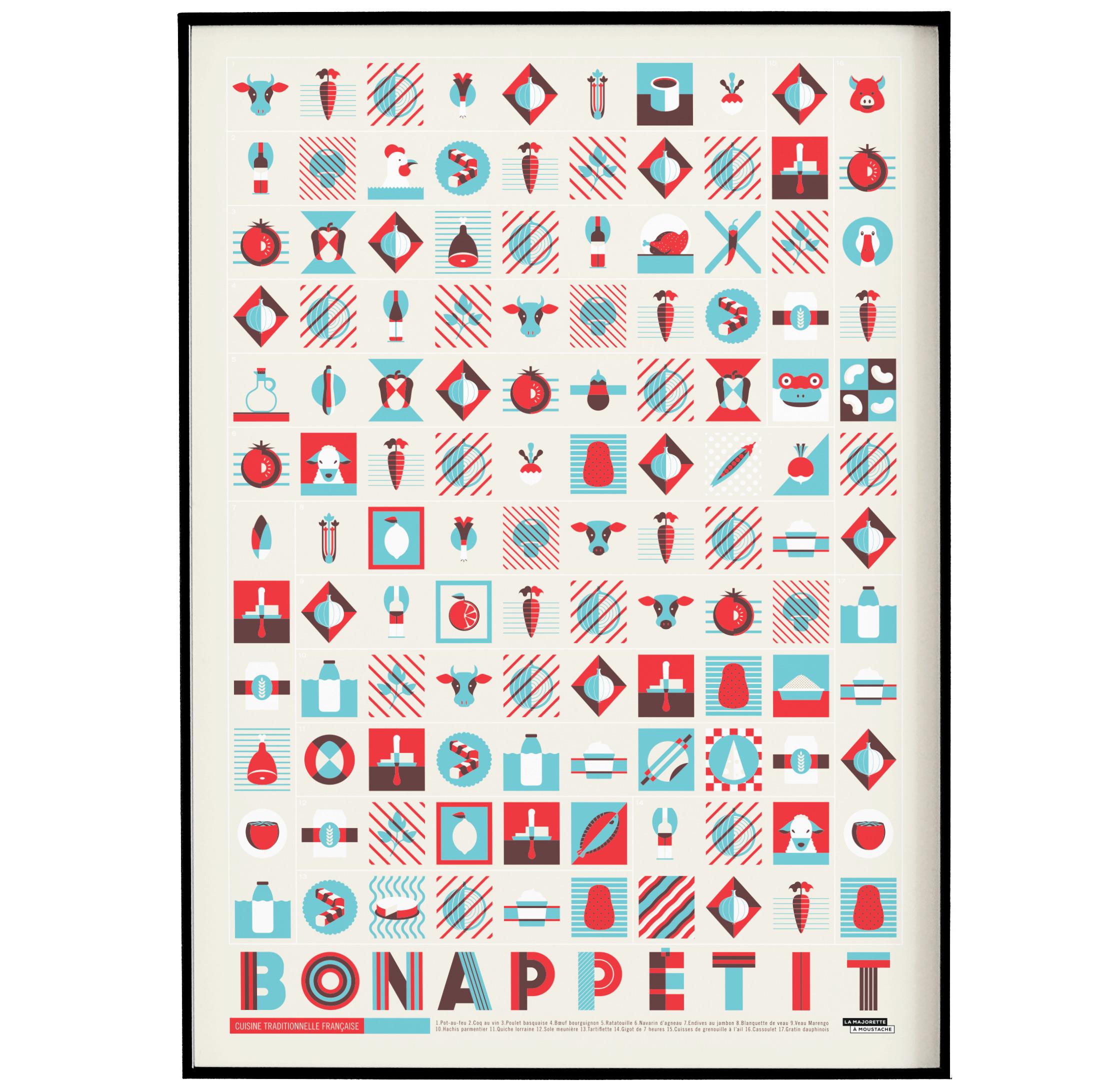 Affiche d'art bon appétit 50 X 70 cm