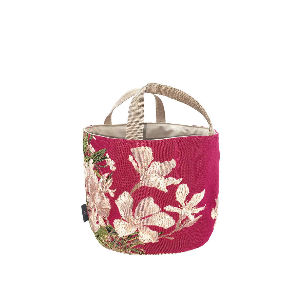 Panier fleurs de laurier rose 25x28