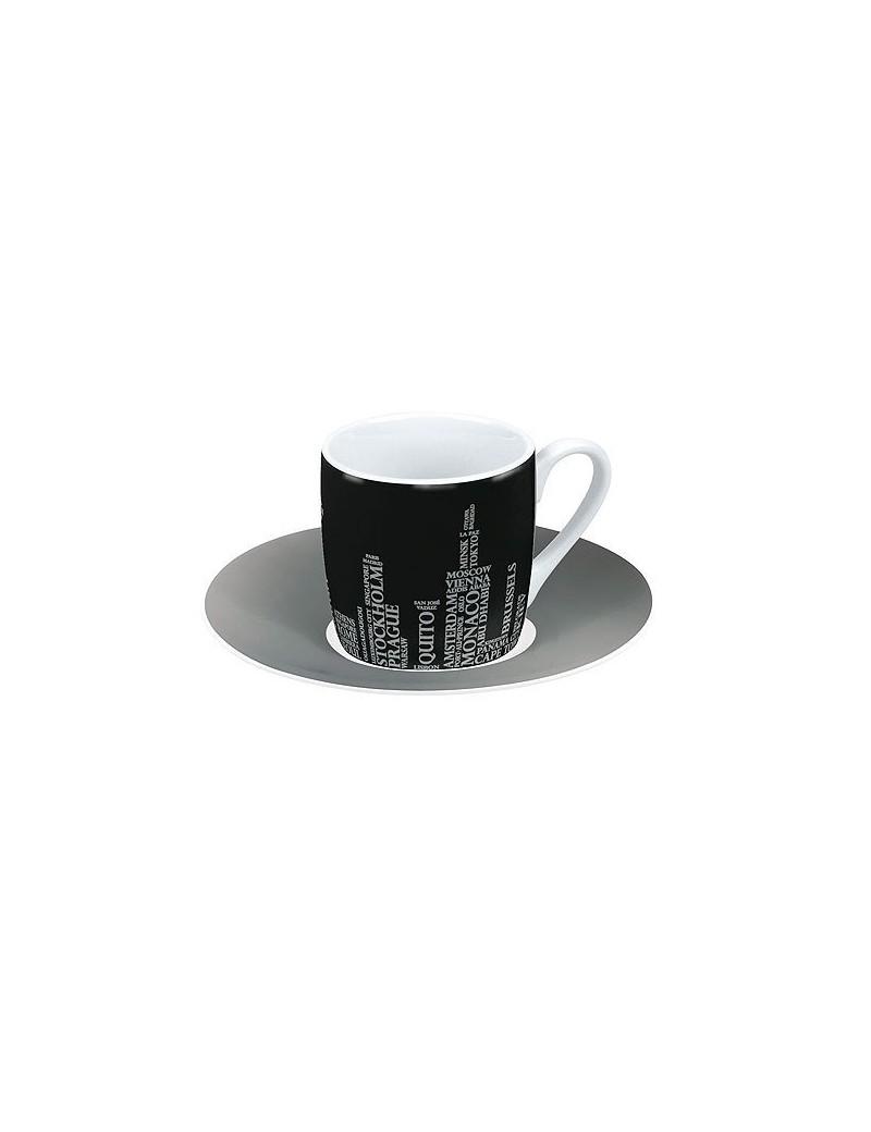 Tasse à café en porcelaine noire 85ml