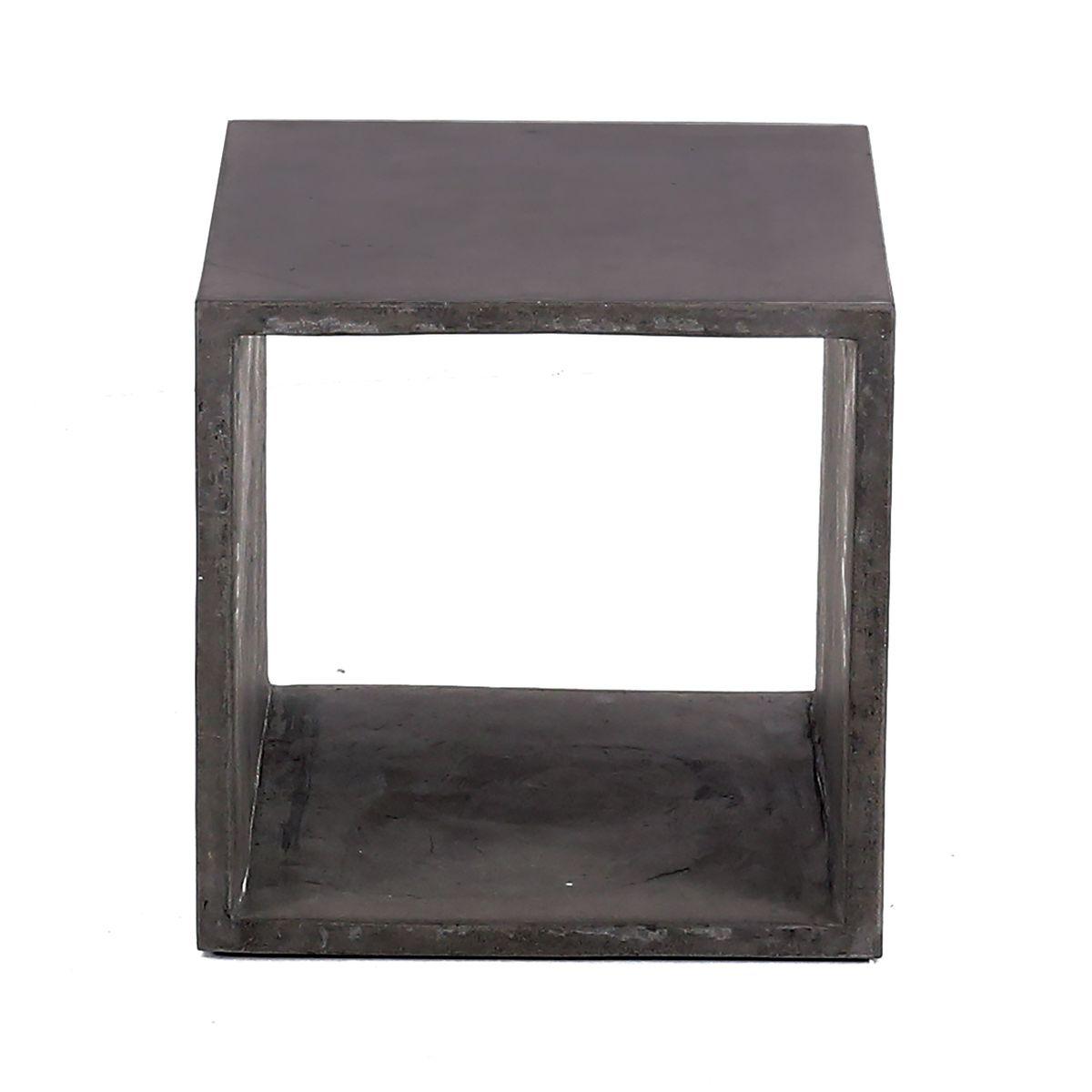 Cube de rangement béton de 40 cm gris foncé (photo)