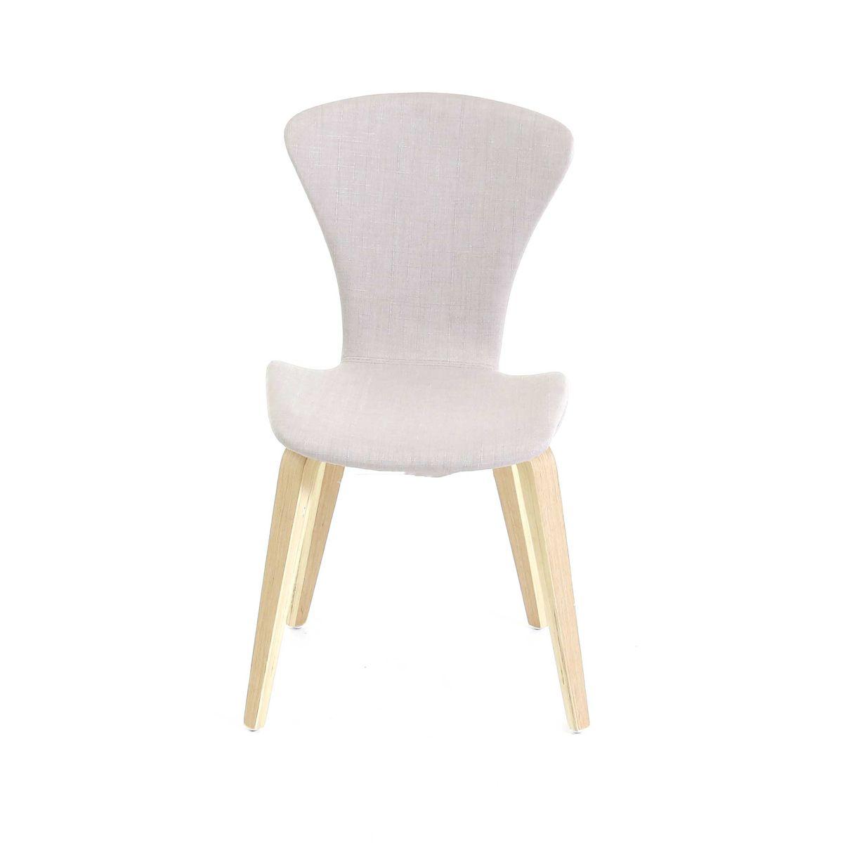 Chaise tissu pieds chêne