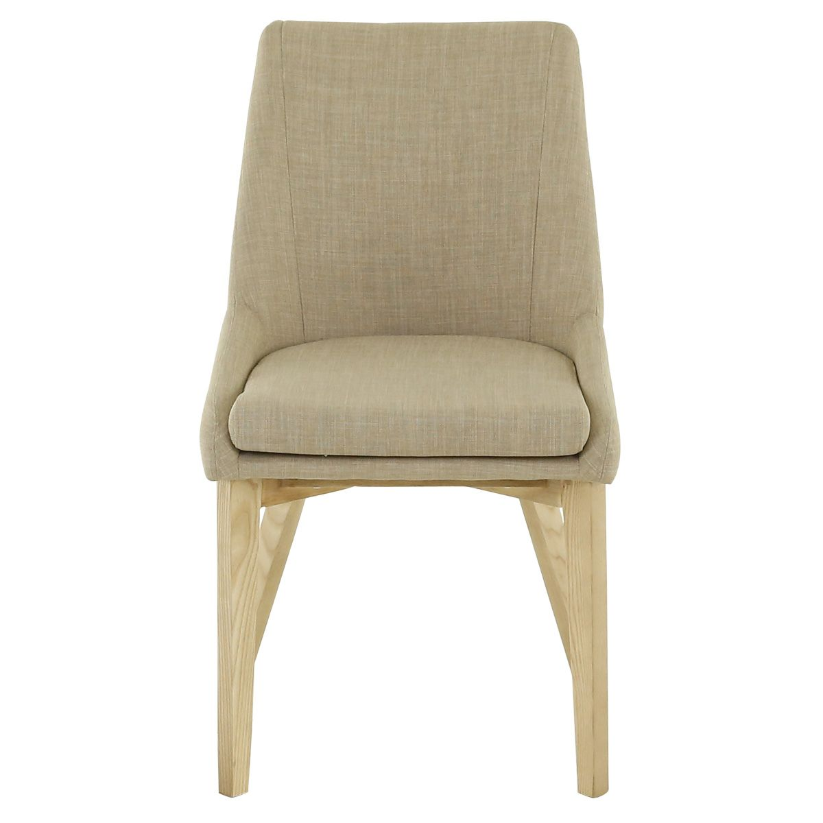 Chaise tissu et bois de frêne  beige